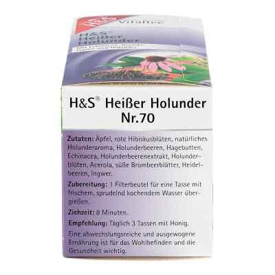 H&s Heisser Holunder Vitaltee Filterbeutel