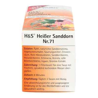 H&s Heisser Sanddorn Vitaltee Filterbeutel