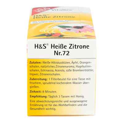 H&s Heisse Zitrone Vitaltee Filterbeutel
