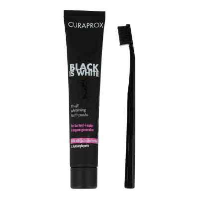 Curaprox Black is White Kohlezahnpasta und Bürste  bei apotheke.at bestellen