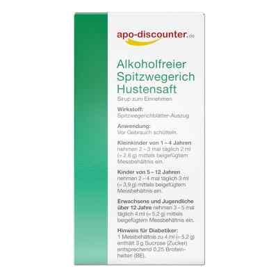 Alkoholfreier Spitzwegerich Hustensaft von apo-discounter  bei apotheke.at bestellen