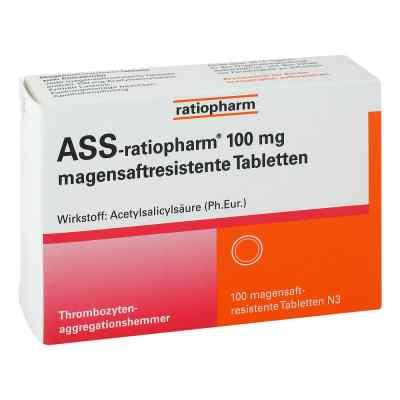 Ass ratiopharm 100 mg magensaftresistent   Tabletten  bei apotheke.at bestellen