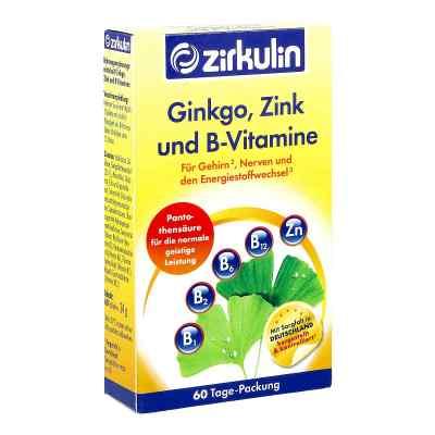 Zirkulin Ginkgo Zink und B-vitamine Filmtabletten  bei apotheke.at bestellen