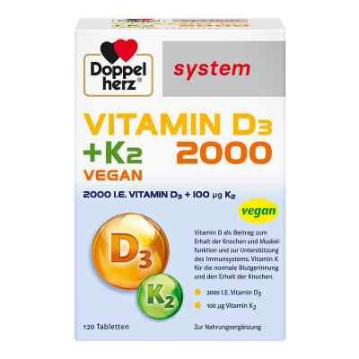 Doppelherz Vitamin D3 2000+k2 system Tabletten  bei apotheke.at bestellen