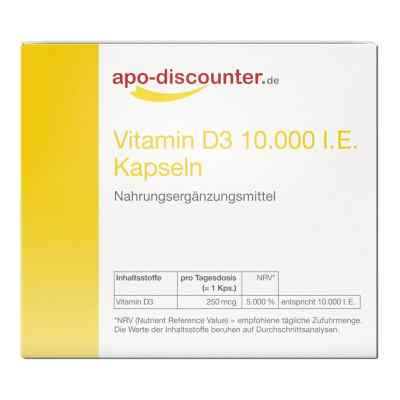 Vitamin D3 Kapseln 10000 I.e. 250 [my]g von apo-discounter  bei apotheke.at bestellen