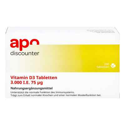 Vitamin D3 Tabletten 3000 I.e. 75 [my]g von apo-discounter  bei apotheke.at bestellen