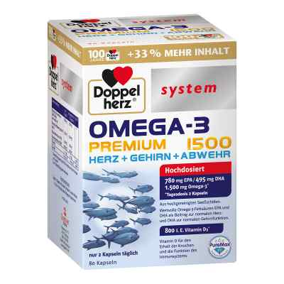Doppelherz Omega-3 Premium 1500 System Kapseln  bei apotheke.at bestellen
